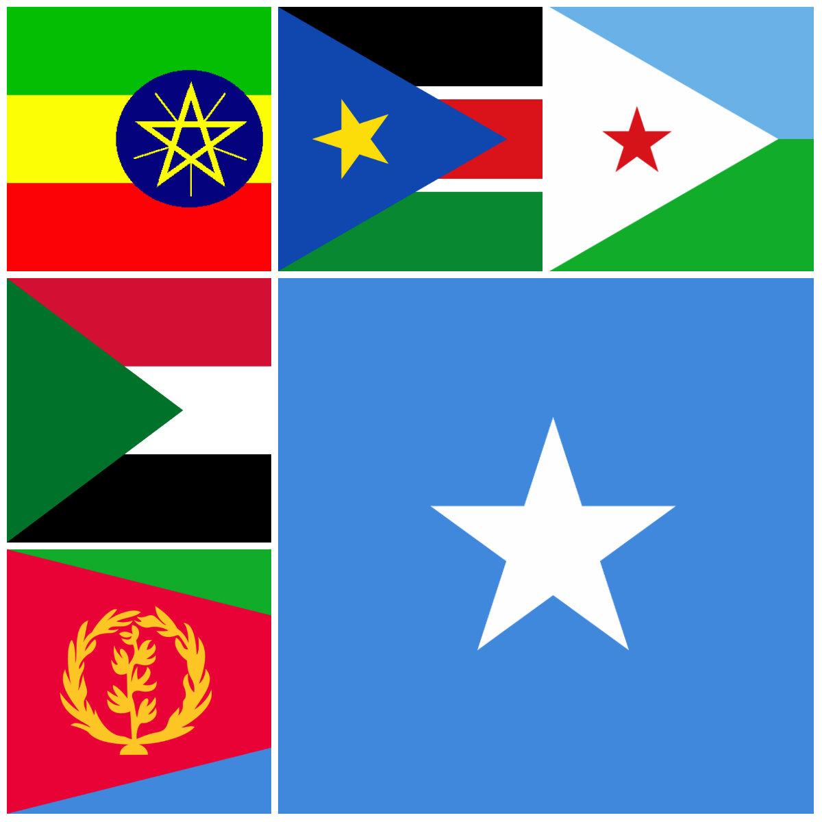 Waxaa la is raaciyay Ethiopia, Somalia, Djabuti, Sudan & Eritrea